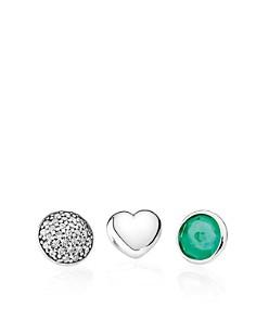 PANDORA Charms - Sterling Silver, Royal Green Crystal & Cubic Zirconia May Petites, Set of 3 - Bloomingdale's_0