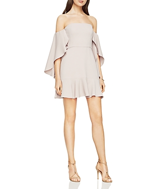 Bcbgmaxazria Off-the-Shoulder Flutter Sleeve Dress - 100% Exclusive