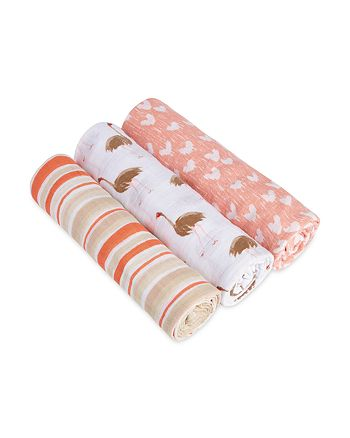 Aden and Anais - Infant Girls' Flock Together Swaddles, 3 Pack