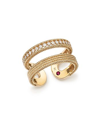 Roberto Coin - 18K Yellow Gold Symphony Diamond Double Ring