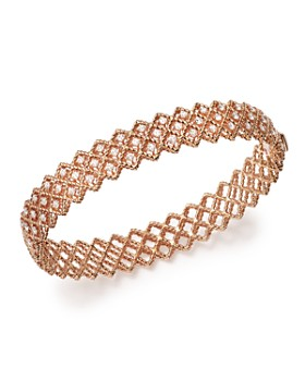 Roberto Coin - 18K Rose Gold New Barocco Diamond Bangle