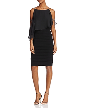 Adrianna Papell Bodice-Overlay Banded Dress