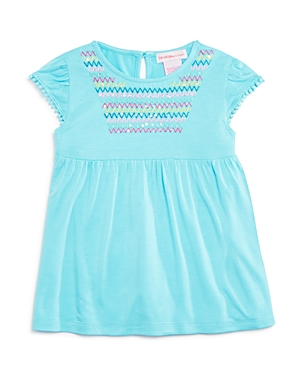 Design History Girls' Embroidered Sequin Top - Little Kid