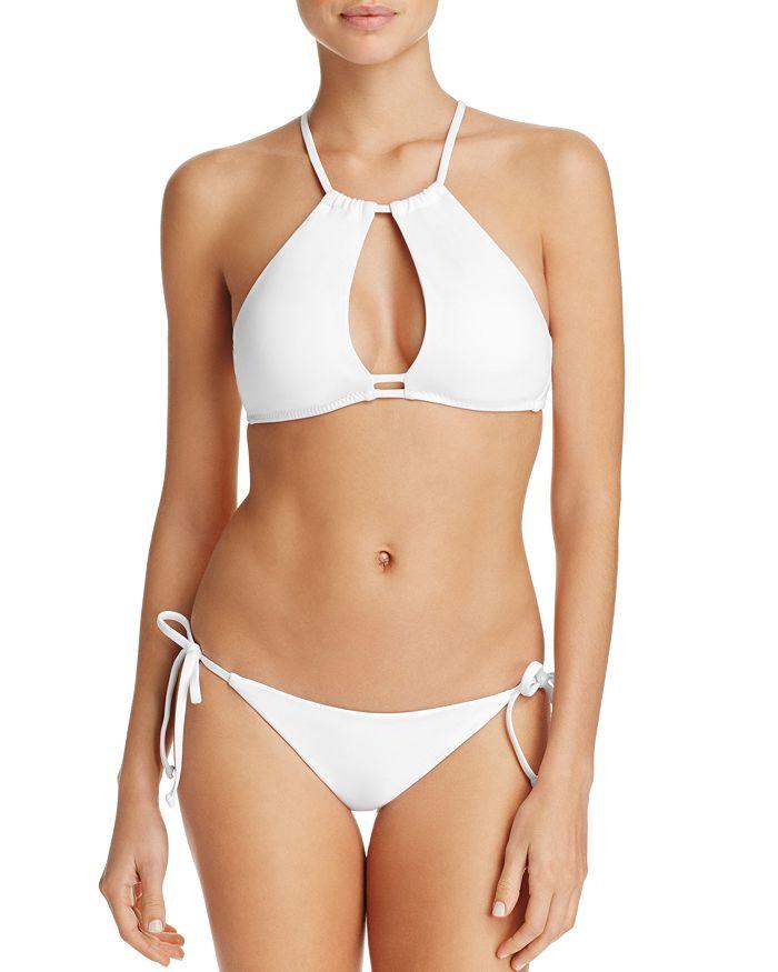 BECCA® by Rebecca Virtue - Color Code Halter High Neck Bikini Top & Color Code Tie Side Bikini Bottom