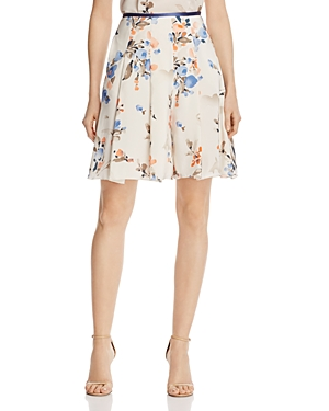 Armani Collezioni Floral-Print Flared Shorts