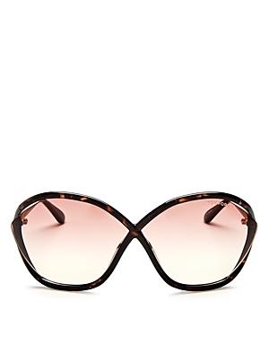Tom Ford Bella Oversized Round Mirrored Sunglasses, 75mm