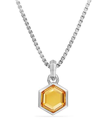 David Yurman - Hexagon Cut Amulet with Citrine