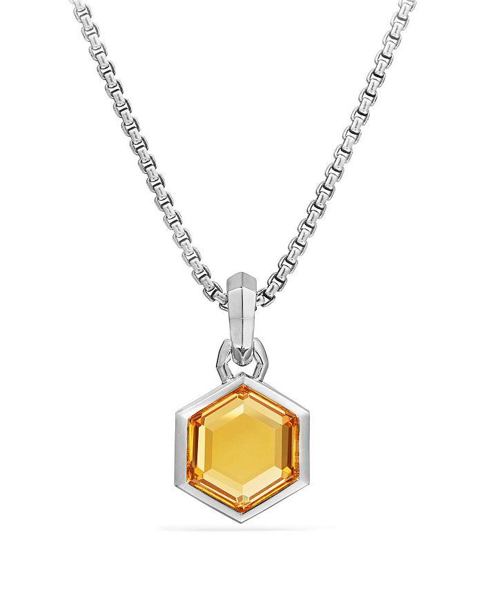 David Yurman - Hexagon Cut Amulet with Citrine