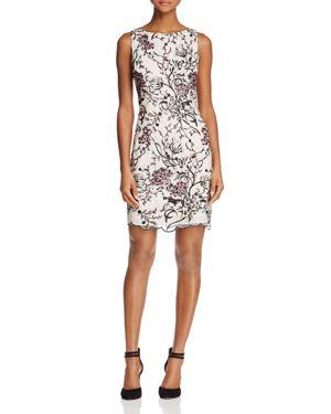 Aidan Mattox Sleeveless Lace Embroidered Dress