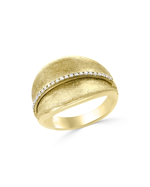 Diamond Textured Wide Ring in 14K Yellow Gold, .15 ct. t.w. - 100% Exclusive