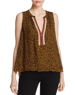 Scotch & Soda Sleeveless Mixed Print Top
