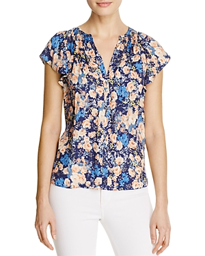 Rebecca Taylor Gigi Floral-Print Silk Top
