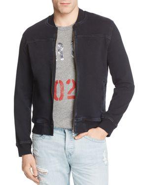 True Religion Moto Varsity Bomber Jacket