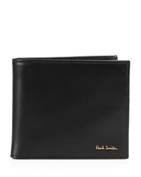 Paul Smith - Multistripe-Lined Leather Bi-Fold Wallet