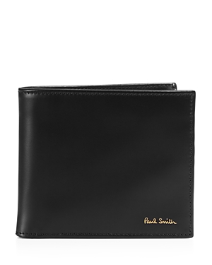 Paul Smith Multistripe-Lined Leather Bi-Fold Wallet