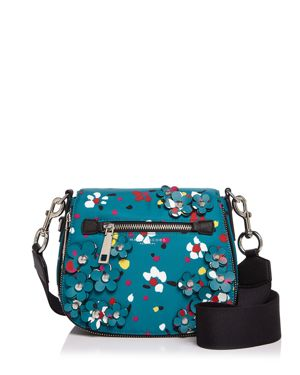 Marc Jacobs 3D Painted Flowers Nomad Small Saddle Bag 2584729