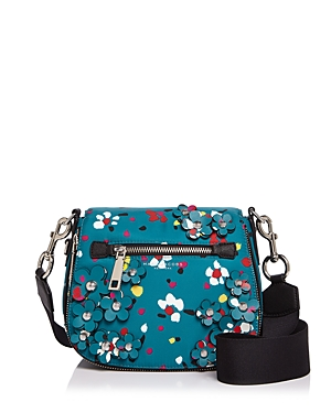 marc jacobs female marc jacobs 3d painted flowers nomad small saddle bag