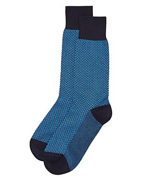 Bruno Magli Herringbone Dress Socks