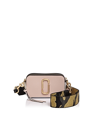 Marc Jacobs Snapshot Camo Strap Color Block Leather Camera Bag