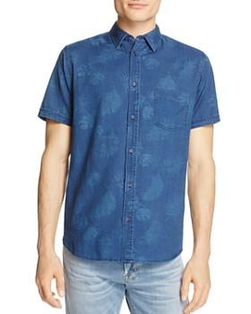 Rails - Carson Palm-Print Regular Fit Button-Down Shirt