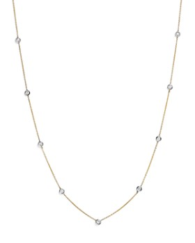 Bloomingdale's - Diamond Station Necklace in 14K Yellow and White Gold, .60 ct. t.w. - 100% Exclusive