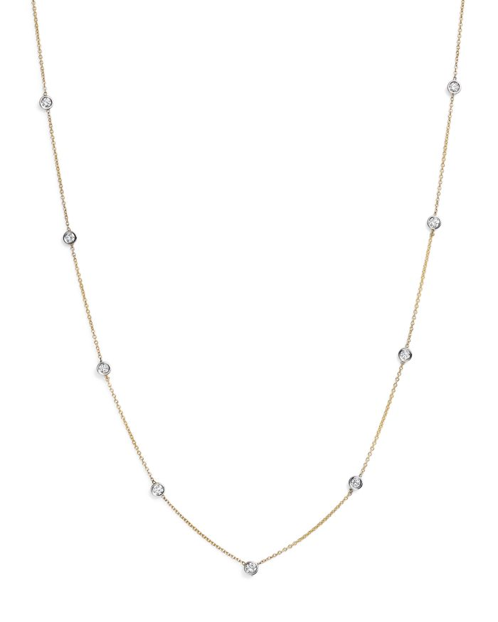 Bloomingdale's Diamond Station Necklace in 14K Yellow and White Gold, 0.60 ct. t.w. - 100% Exclusive     Bloomingdale's
