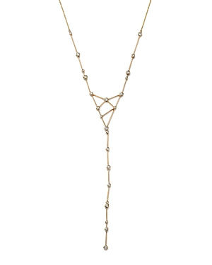 Diamond Bezel Set Stick Y Necklace in 14K Yellow Gold, .80 ct. t.w. - 100% Exclusive