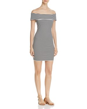 cupcakes and cashmere Portola Off-the-Shoulder Dress