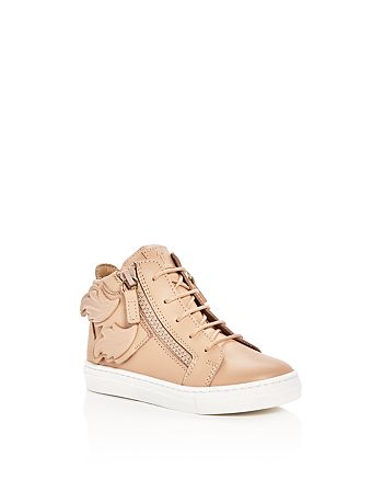 Giuseppe Zanotti - Girls' Birel Wings Mid Top Sneakers - Toddler, Little Kid