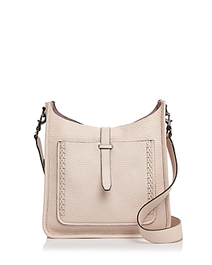 Rebecca Minkoff Unlined Whipstitch Feed Pebbled Leather Crossbody