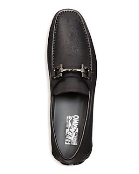 Salvatore Ferragamo - Men's Parigi Double Gancini Bit Pebbled Leather Loafers