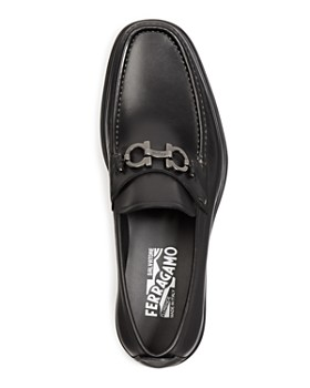 Salvatore Ferragamo - Men's David Double Gancini Bit Thick Lug Leather Loafers