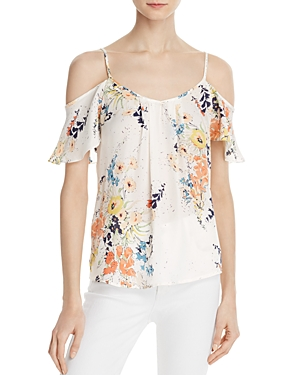 Joie Adorlee Silk Cold-Shoulder Top