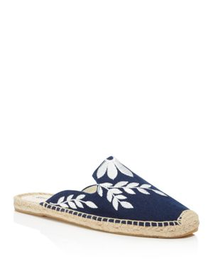 Soludos Women's Embroidered Espadrille Mules