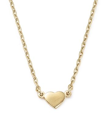 Bing Bang NYC - 14K Yellow Gold Heart Pendant Necklace, 16""
