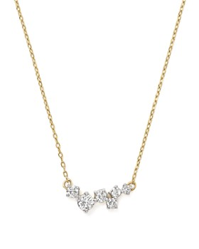Adina Reyter - 14K Yellow Gold Scattered Diamond Necklace, 15""