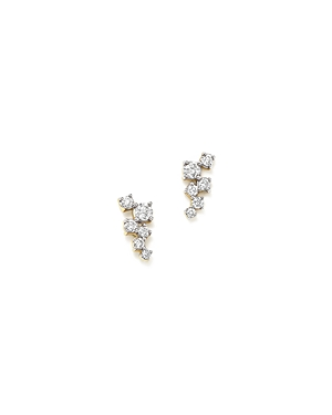 Adina Reyter 14K Yellow Gold Scattered Diamond Stud Earrings