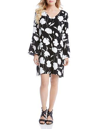 Karen Kane - Floral Print Bell Sleeve Dress