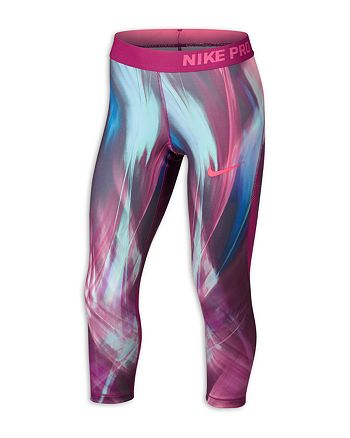 cf0718f02dbfe Nike Girls' Printed Capri Leggings - Big Kid | Bloomingdale's