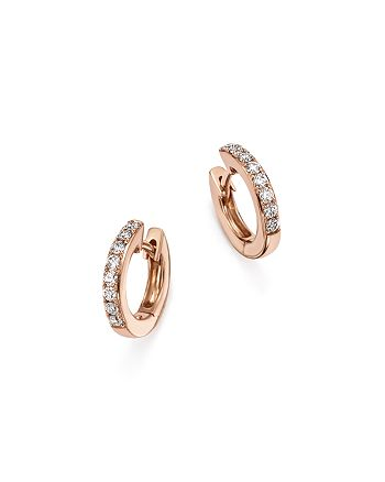 Bloomingdale's - Diamond Mini Hoop Earrings in 14K Rose Gold, .15 ct. t.w. - 100% Exclusive