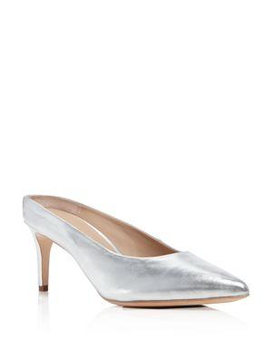 Pour La Victoire Daria Metallic Leather Mules - 100% Exclusive