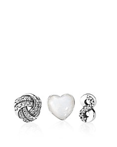 PANDORA Sterling Silver, Enamel & Cubic Zirconia Infinite Love Petites Charm, Set of 3 - Bloomingdale's_0