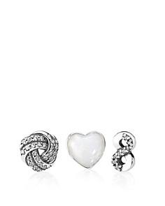 PANDORA Sterling Silver, Enamel & Cubic Zirconia Infinite Love Petites Charm, Set of 3 - Bloomingdale's_0