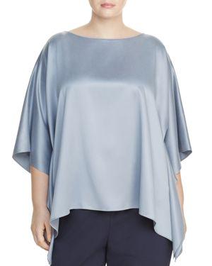 Lafayette 148 New York Plus Abbot Silk Blouse