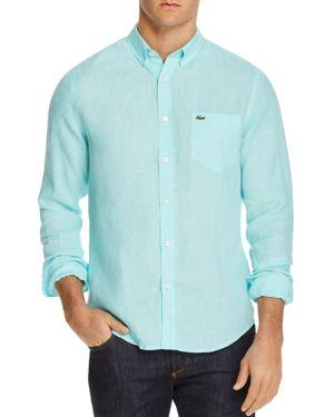 Lacoste Linen Regular Fit Button-Down Shirt