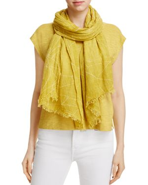Eileen Fisher Geometric Textured Scarf