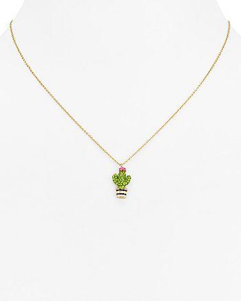 14c7e982d15b8 kate spade new york Cactus Mini Pendant Necklace, 16