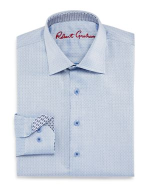 Robert Graham Boys' Barry Dress Shirt - Big Kid