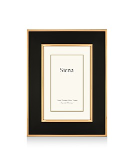 Siena - Black Wide Enamel with Gold Frame