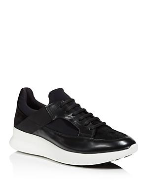 Salvatore Ferragamo Mixed Media Low Top Sneakers